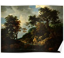 Jacob van Ruisdael  The Forest Stream Poster