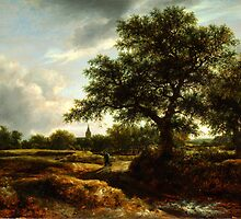 Jacob van Ruisdael   Landscape with a Village in the Distance (1646) by Adam Asar