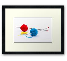 Knitting according Mondriaan Framed Print