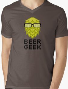 Beer Geek Mens V-Neck T-Shirt