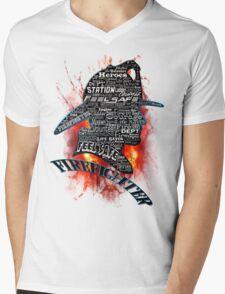 Firefighter phrases that symbolize Mens V-Neck T-Shirt