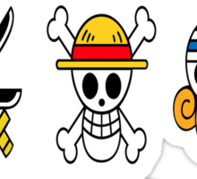 The Straw Hat Crew's Jolly Roger Sticker