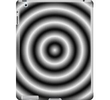 White 3D Hoops iPad Case/Skin