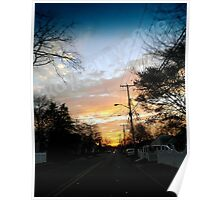 Sunset in Port Monmouth Poster