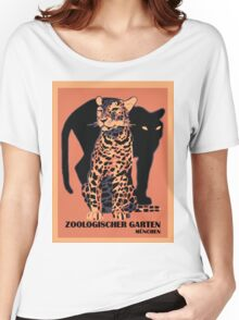 Retro vintage Munich Zoo big cats Women's Relaxed Fit T-Shirt