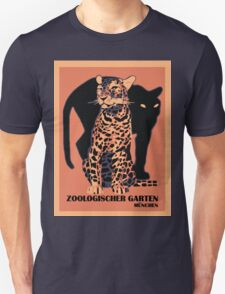 Retro vintage Munich Zoo big cats Unisex T-Shirt