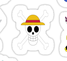 The Straw Hat Crew's Jolly Roger Post Time Skip Sticker