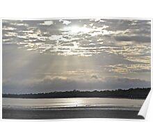 Sunlight slicing through cloud Poster