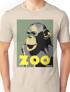Retro Zoo Berlin monkey travel advertising Unisex T-Shirt