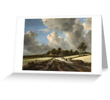 Jacob van Ruisdael   Wheat Fields (c. 1670) Greeting Card