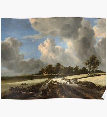 Jacob van Ruisdael   Wheat Fields (c. 1670) Poster