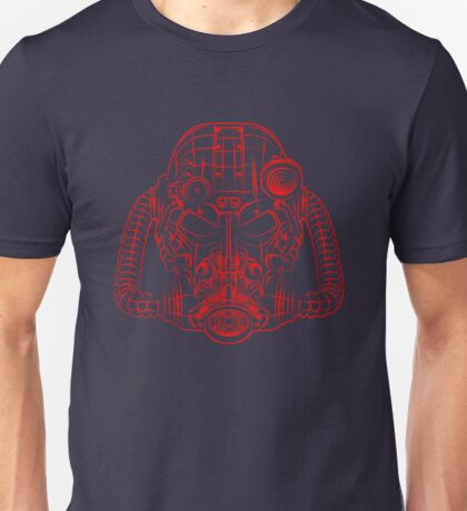 Power Wireframe Red Unisex T-Shirt