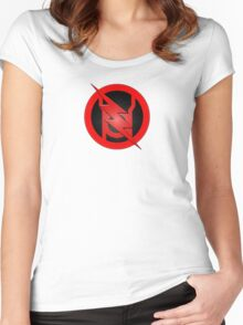 Red Lantern Reverse Flash Women's Fitted Scoop T-Shirt