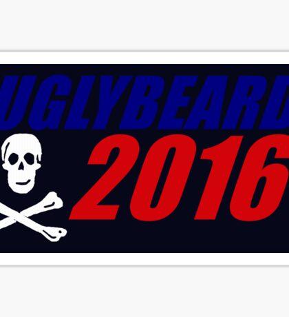 UGLYBEARD 2016 Black Background Sticker