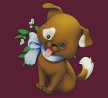 Mistletoe Christmas Puppy by Julia Lichty