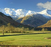 Crinkle Crags And Bowfell by Jamie  Green