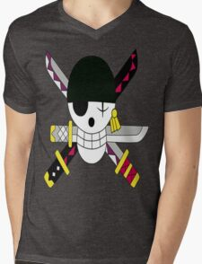 Roronoa Zoro's Jolly Roger Post Time Skip Mens V-Neck T-Shirt