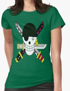 Roronoa Zoro's Jolly Roger Post Time Skip Womens Fitted T-Shirt