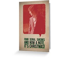 Four Serial Suicides and a Note! Greeting Card