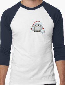 Santa Hat Wearing Baby Emperor Penguin Men's Baseball ¾ T-Shirt