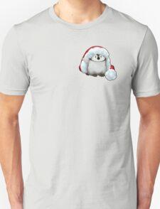 Santa Hat Wearing Baby Emperor Penguin Unisex T-Shirt