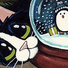 Penguin Snow Globe by Lisa Marie Robinson