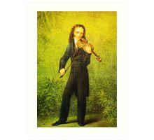 Kersting Der Geiger Nicolo Paganini Art Print