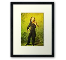 Kersting Der Geiger Nicolo Paganini Framed Print