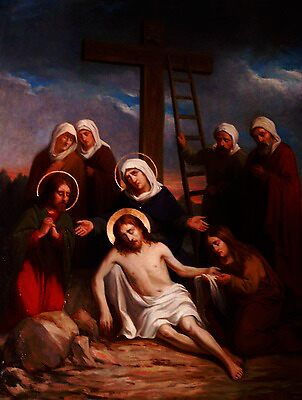 Lamentation of Christ paint by the Belgian artist Leo Steel by Adam Asar