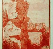 Landscape with ruins in Rome by the Belgian artist Jacques Valcke by Adam Asar