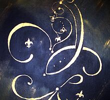 Abstract Fleur de Lis Saints Inspiration by Anne Guimond