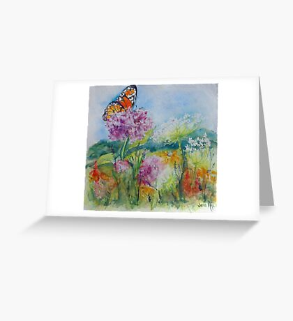 Indiana Prairie Wild Flowers Greeting Card