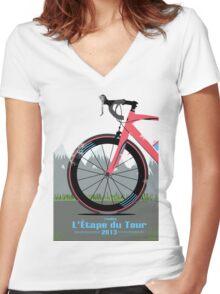 L'Étape du Tour Bike Women's Fitted V-Neck T-Shirt