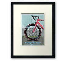L'Étape du Tour Bike Framed Print