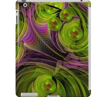 Floating bubbles, abstract fractal case iPad Case/Skin