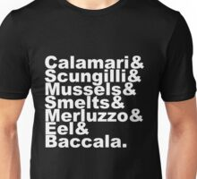 7 Fishes Seven Christmas Eve Italian  Unisex T-Shirt