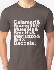 7 Fishes Seven Christmas Eve Italian  T-Shirt