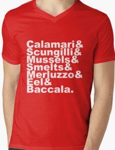 7 Fishes Seven Christmas Eve Italian  Mens V-Neck T-Shirt