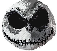 Jack Skellington Face 2 - The Nightmare Before Christmas by tomohawk64