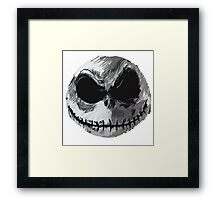 Jack Skellington Face 2 - The Nightmare Before Christmas Framed Print