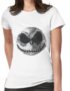Jack Skellington Face 2 - The Nightmare Before Christmas Womens Fitted T-Shirt