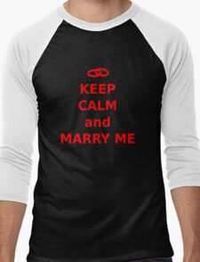 Keep Calm and Marry Me Men's Baseball ¾ T-Shirt