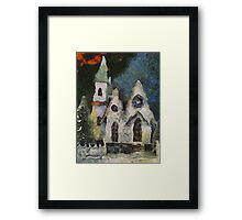 Is That Where Baby Jesus Lives? Framed Print