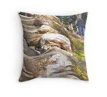 Wavy Redwoods Throw Pillow