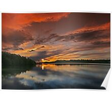 Ferrycarrig sunset, County Wexford, Ireland Poster