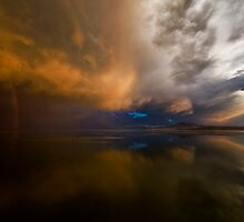 Double Rainbow and Stormy Clouds by utahwildscapes