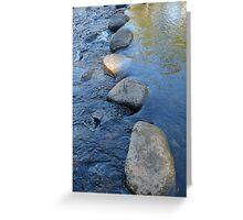 Water Step Lightly: Carnarvon Gorge, Queensland, Australia Greeting Card