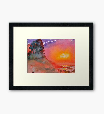 Galapagos Sunset Framed Print