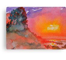 Galapagos Sunset Canvas Print