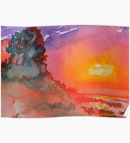 Galapagos Sunset Poster